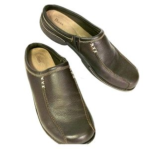 Bass Brown Leather Slip-ons Sz 11